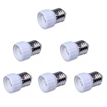 Superdealspro 6-Pack E27 to GU10 LED Bulb Base Converter Screw Light Lamp Holder Extender Socket Adapter
