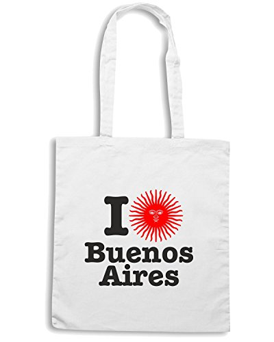 T-Shirtshock - Borsa Shopping T0195 I LOVE BUENOS AIRES Bianco