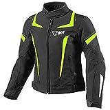 Jet Motorradjacke Damen Mit Protektoren Textil Wasserdicht Winddicht (XL (EU 40-42), Fluro)