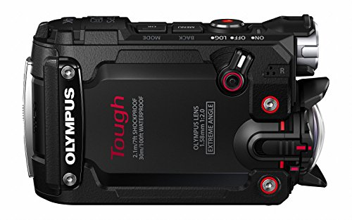 "Olympus TG-Tracker - Cámara de acción de 7.2 MP (pantalla abatible de 1,5"", GPS, WiFi, estabilizador de 5 ejes, video 4K), negro"