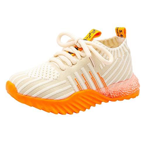 LILIGOD Jungen Mädchen Leichte Atmungsaktive Sneakers Freizeitschuhe Kinder Casual Sportschuhe Athletic Laufschuhe Weicher Boden Bequeme Turnschuhe rutschfeste Slip-On Sneaker