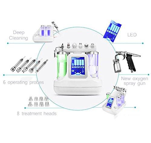 Beau Face 6 in 1 Vakuum Saug Mitesser Akne Entfernung Wasser Hydro-Dermabrasion Gesichts Sprayer Feuchtigkeitsverjüngende Haut Maschine