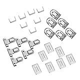 PandaHall Elite 10pcs Eisen Geldbörse Push Lock Sets für Tasche DIY, Platin, 35x25x11mm