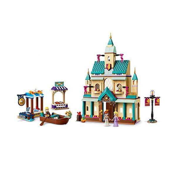LEGO DisneyFrozenII IlvillaggiodelCastellodiArendelle con Mini-doll della Principessa Anna, Elsa e Kristoff,Mercato e Barca a Remi,Gatto e 2 Uccelli,Set di Costruzioni per Bambini, 41167 3 spesavip