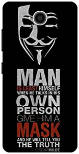 The Racoon Lean Anonymous Quotes hard plastic printed back case / cover for Microsoft Lumia 650