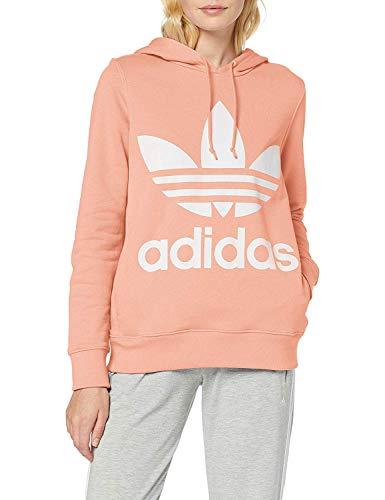 adidas Damen Trefoil Hoodie Duspnk Hemd, Rosa, 42 -