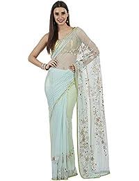 Satya Paul Women's Net with Blouse Piece Saree