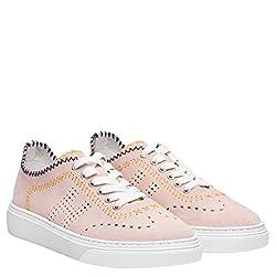 Hogan h365 Zapatillas Zapatos Sneaker Sneakers de Caucho para Mujer Rosa Pink Size 38 5 EU