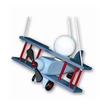 suspension chambre enfant avion aeronef bleu luminaires et eclairage. Black Bedroom Furniture Sets. Home Design Ideas