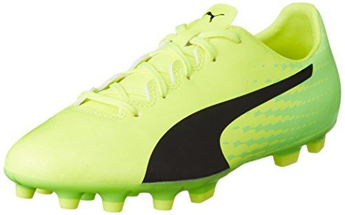 Puma Evospeed 17.4 Ag Jr, Chaussures de Football Mixte Enfant Jaune (Safety Yellow-puma Black-green Gecko 01)