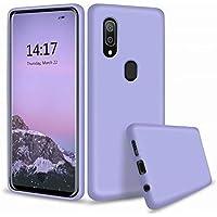 Ttimao Compatible avec Les Coque Samsung Galaxy A30/A20/M10S Silicone Liquide Gel Étui+1*Protecteur D'écran Anti-Choc Housse Protection avec Soft Microfiber Cloth Lining Cushion-Violet