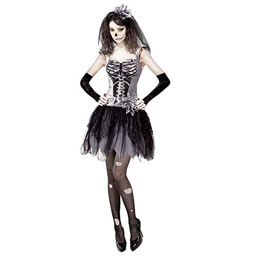 Skelett Braut Halloween Kostüm - Widmann 07589 Erwachsenenkostüm Skelett Braut,