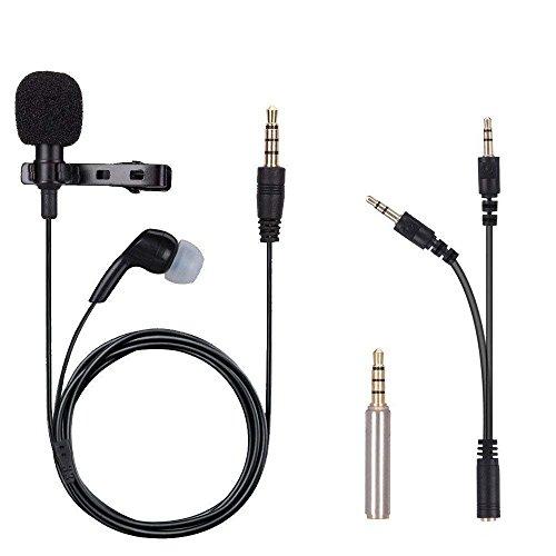 Mikrofon für Smartphone, iGOKU Omnidirectional Kondensator-Mikrofon mit dem kopfhörer, Mini Portable Mic Lavalier Clip-on für Handy, Laptop Macbook, iPhone & Android, Interviews, Skypen, usw -