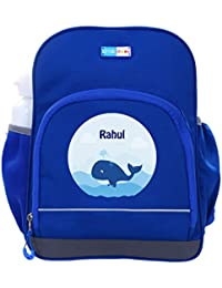 UniQBees Personalised School Bag With Name (Little Life Pre-School Backpack-Blue-Free Willy)