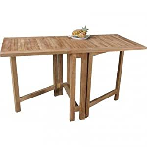 Table pliante 39 butterfly 39 terrasse table table en bois table de balcon table de jardin bois de for Table de terrasse pliante