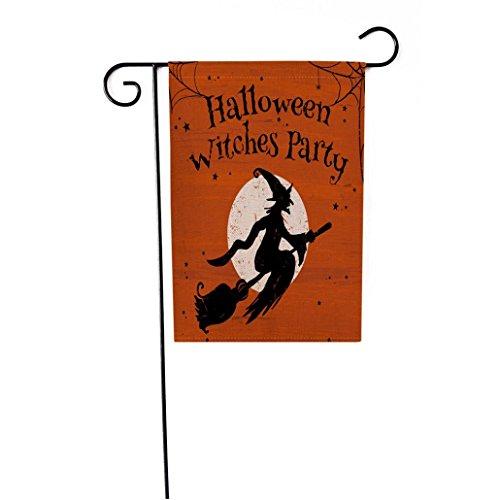 HCFKJ 2017 Mode Halloween 12 X 18 Inch Custom KüRbis Halloween Dekoration Garten Flagge (B) (Halloween 2017)