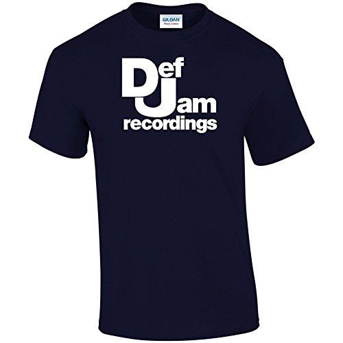 Inspiriert DEF JAM Records T-Shirt Blau - Navy