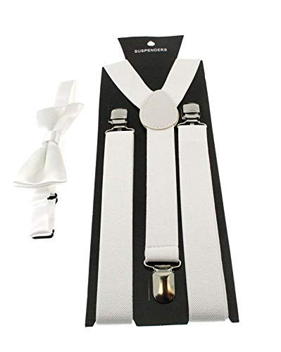 Zac's Alter Ego® Men's Matching Suspenders & Pre-Tied Bow Tie Combo Sets for Stag Do's -