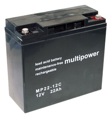 Multipower MP22-12C 12V 22Ah AGM Blei Akku zyklenfest