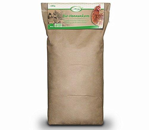 Mühldorfer, Bio-Hennenfutter, Förderung der Verdauung und fester Eischale, Bio-Hennenkorn, 20 kg Sack Test