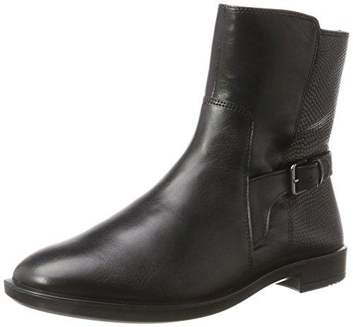 Ecco Damen Pattern M 15 Stiefel, Schwarz (Black/Black), 35 EU
