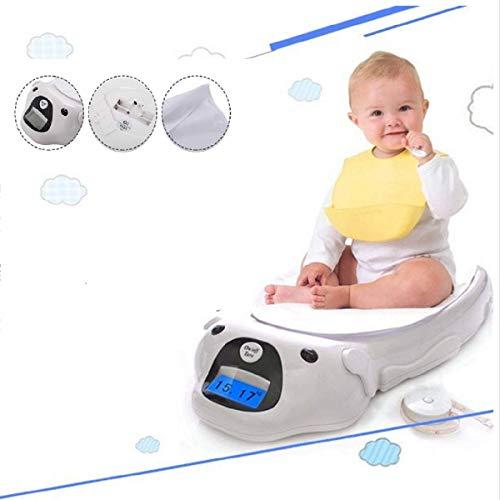 GOPLUS Babywaage digital bis 20kg Baby Waage Kinderwaage Tierwaage cartoon mit Auflage Bandmaß weiß