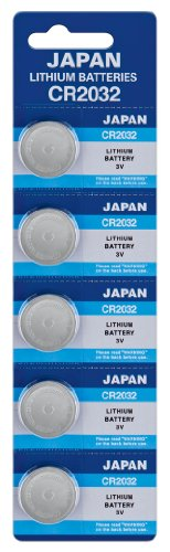 Panasonic Knopfzelle 5X CR2032, Lithium 220 mAh 3,0 Volt, Verpackung = 5er Blister Panasonic Cr2032 3v Batterie