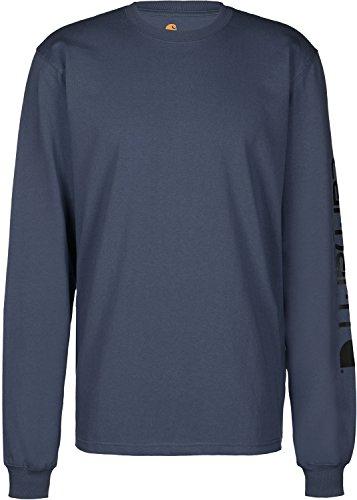 Carhartt T-shirts Jungen (Carhartt. EK231. NVY. S005Sleeve Logo T-Shirt, Medium, Navy)