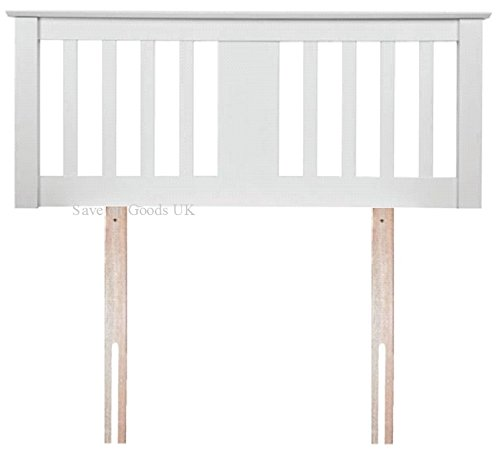 Sweet Dreams Kestrel White Wooden Small Double 4FT Headboard includes Fittings
