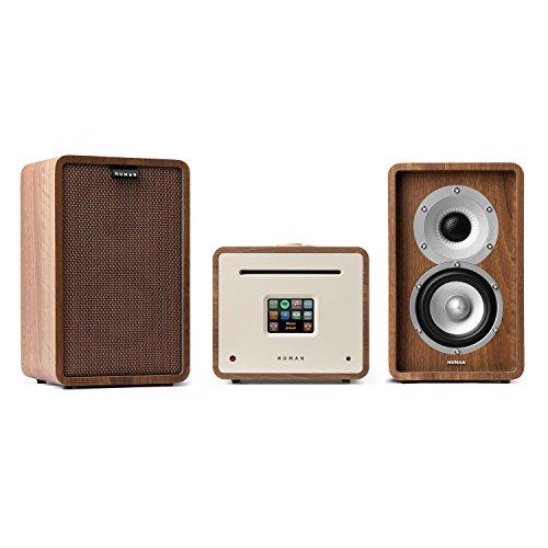 NUMAN Unison Retrospective 1979 S Edition mit Cover braun • Stereoanlage • Verstärker • Lautsprecher • 2 x 40 W • UNDOK-App • Spotify-Connect • WLAN • UKW • DAB+ • Bluetooth • TFT-Display • walnuss