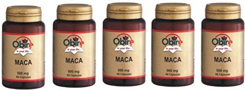 5 Confezioni di Maca 500 mg Integratore Alimentare Stimolante Tonico Prestazioni Sessuali