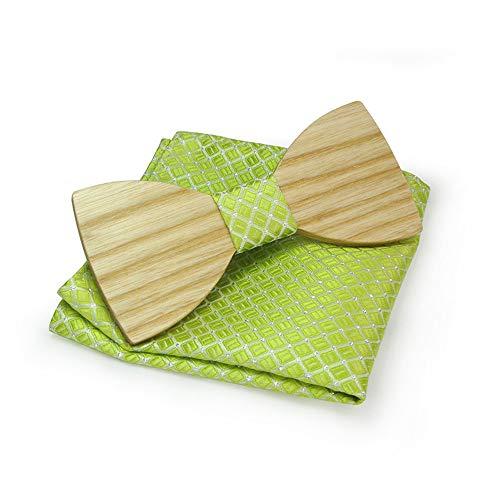 FXJLDJ Senior Adult Men Business Casual Party Holz Krawattenanzug Party Krawattenanzug und Pure and Fresh (Farbe : Grün) -