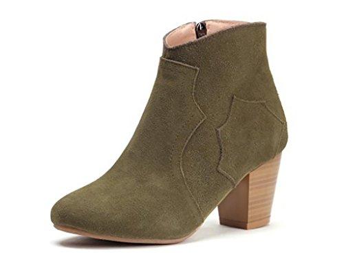 SONGYUNYAN Westlichen Leder Nubuk-Leder Büro Damenmode Schuhe 2
