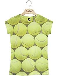 Batch1 Tennis Balls All Over Fashion Print Wimbledon Tournament Womens T-Shirt