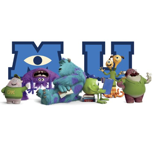 RoomMates Giant Children's Repositonable Disney Wall Stickers Monsters University Character Collage, Multi-Color