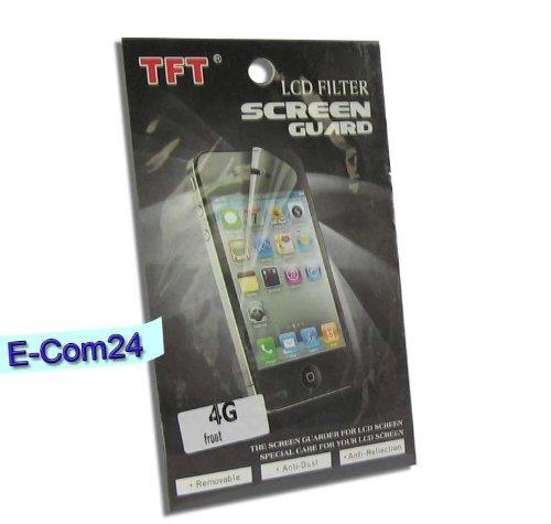 E-Com24 Display Schutzfolie für Apple iPhone 4, 4S Vorne Display Schutzfolie