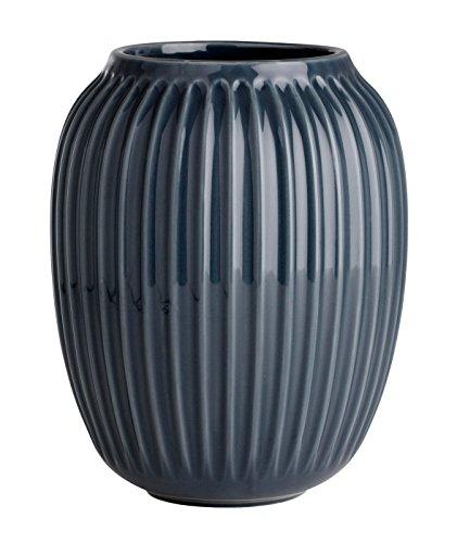 Kähler - Hammershøi - Vase / Blumenvase - Anthazit - Keramik - Höhe 20 cm - Ø 16,5 cm [PR]