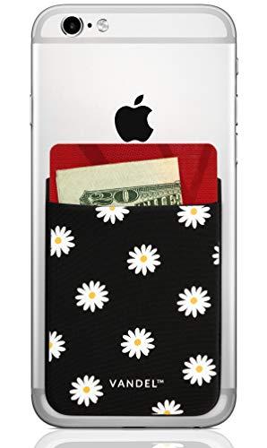 Vandel Pocket: Stick On Fabric Handy Wallet - Kreditkartenhalter für die Rückseite der Smartphone-Hülle - Stretchy Fabric Adhesive Sleeve Kompatibel mit Allen Geräten, gänseblümchen (Iphone 4s Wallet Case Für Männer)