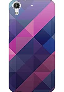 AMEZ designer printed 3d premium high quality back case cover for HTC Desire 626 (abstract purple)