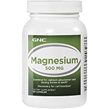 GNC Magnesium 500mg Essential for Calcium Absorption and Strong Bones and Teeth (120 Capsules)