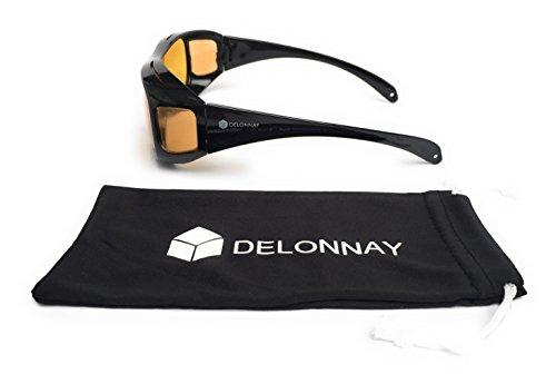 lunettes surlunettes de conduite de nuit tui et pince de rangement homme femme anti blouissement. Black Bedroom Furniture Sets. Home Design Ideas