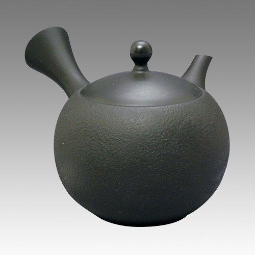 TOKYO MATCHA SELECTION - Tokoname Kyusu teapot - JINSUI - Black Satsuki 300cc/ml - ceramic circle fine mesh [Standard ship by Int'l e-packet: with Tracking & Insurance]