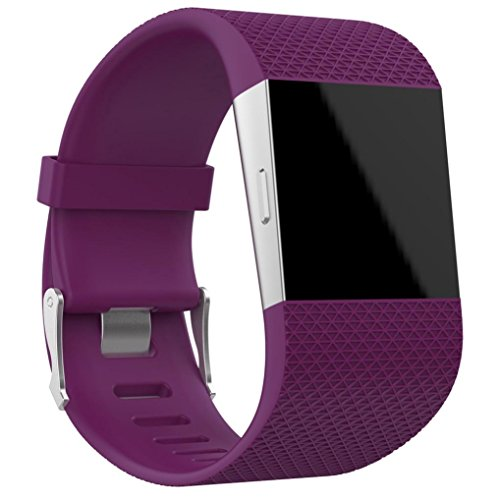 OVERDOSE Fitbit Surge Armband, Ersatz Armband Band Verschluss Wölbungs Werkzeug Installationssatz für Fitbit Surge (Purple, 160-220MM)