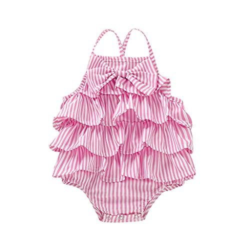 Sanahy Bekleidungssets,Freizeitkleidung Kinder Mädchen Rüschen Blumendruck Sling T-Shirt Tops + Shorts Set Outfit Kleidung Schön Kleinkind