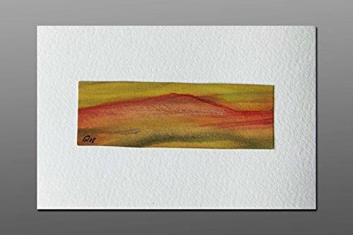 Postkarte + Briefumschlag / Landschaft No6 / Unikat / Aquarellkarte