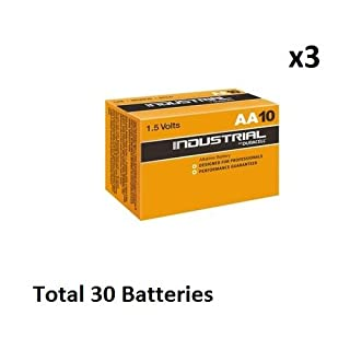 DURACELL 30 X AA Industrial Alkaline Battery - Orange