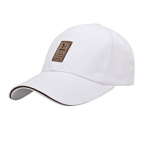 LUFA Pure Color Men's Cotton Outdoor Sport Baseball Cap Casual Sun Hat white