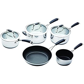MasterClass Stainless Steel Induction-Ready Five Piece Pan Set