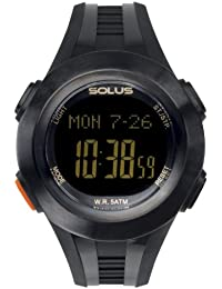 Solus Unisex Digital Watch with LCD Dial Digital Display and Black Plastic or PU Strap SL-101-001