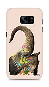 Amez designer printed 3d premium high quality back case cover for Samsung Galaxy S7 (Elephant India)